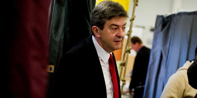 Jean-Luc Melenchon, lors du second tour de l'élection présidentielle, le 6 mai à Paris.