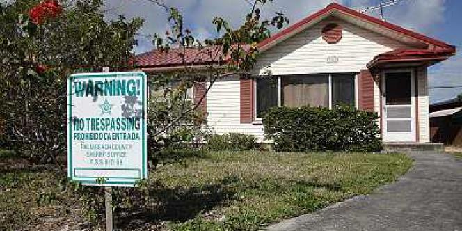 Une maison abandonnée en Floride, victime de la crise des subprimes.