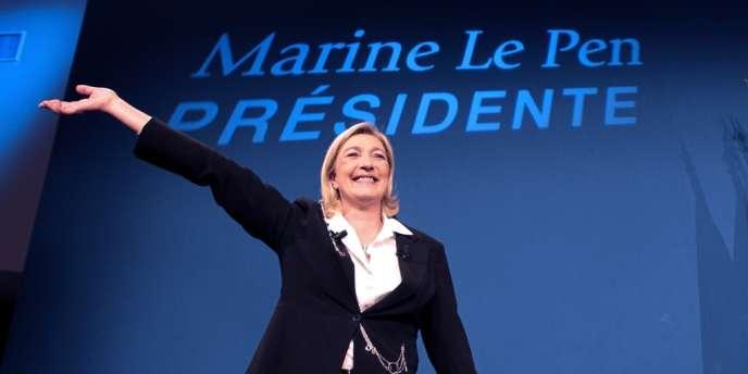 Marine Le Pen, le soir du premier tour de l'élection présidentielle, dimanche 22 avril.