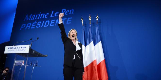 Marine Le Pen, dimanche soir 22 avril.