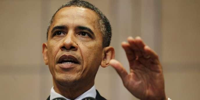 Le président américain Barack Obama, lors de son discours à Washington, le 23 avril.
