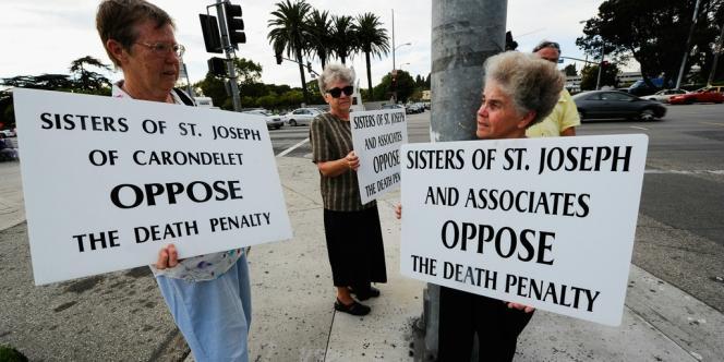Manifestation contre la peine de mort à Los Angeles, en 2010.
