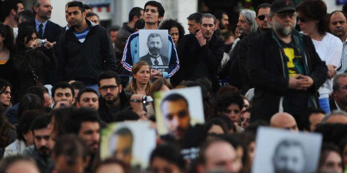 La commémoration du génocide arménien de 1915, à Istanbul, le 24 avril 2012.
