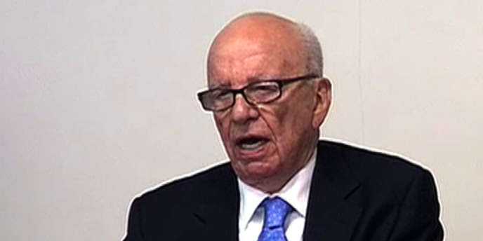 Capture vidéo de l'audition de Rupert Murdoch mercredi à Londres.