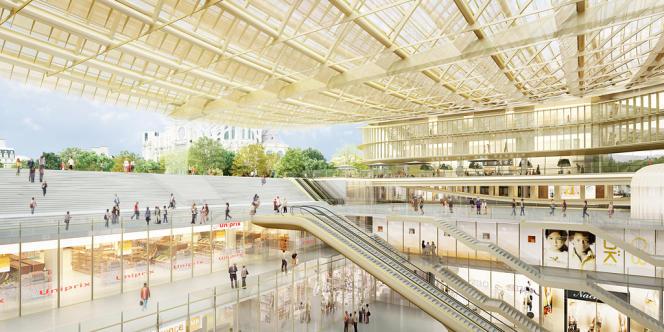 Canopée, visuels de décembre 2010 du projet de Patrick Berger et Jacques Anziutti.