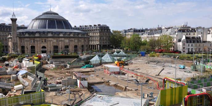 Le futur jardin du nouveau forum des Halles se dessine.