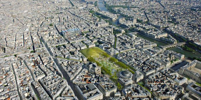La Canopée, visuel de décembre 2010 du projet de Patrick Berger et Jacques Anziutti.