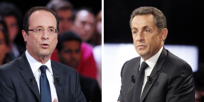 François Hollande et Nicolas Sarkozy lors de leur passage à