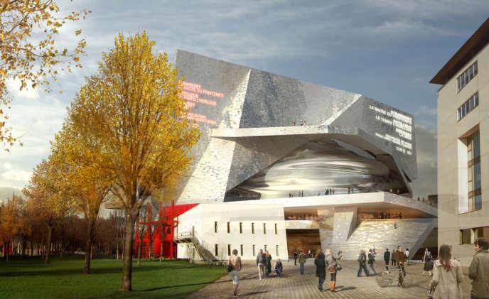 Le projet architectural de la Philharmonie de Paris, à La Villette.
