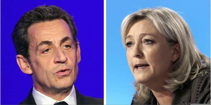 Nicolas Sarkozy et Marine Le Pen.