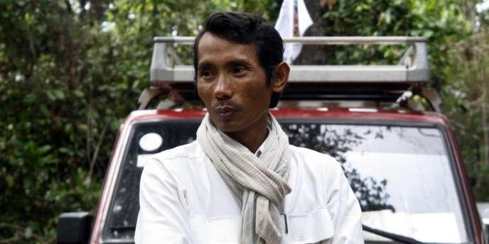 Chhut Vuthy, président du Groupe pour la protection des ressources naturelles, en juin 2011.