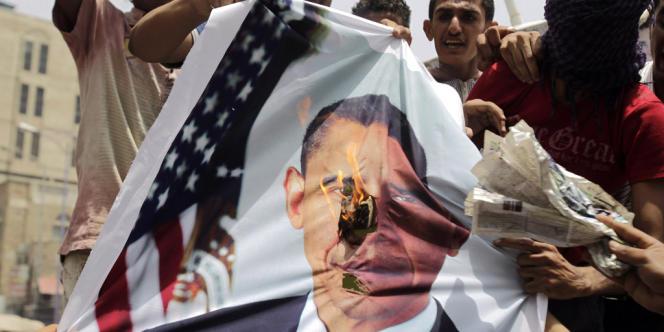 Une manifestation antiaméricaine près de la ville de Taëz au Yémen, en juillet 2011.