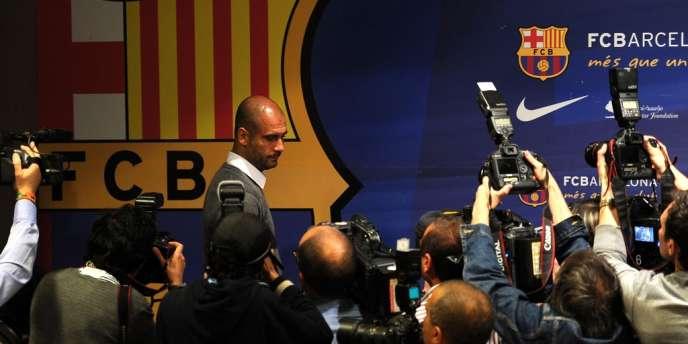 Josep Guardiola a annoncé son départ du Barça lors d'une conférence de presse.