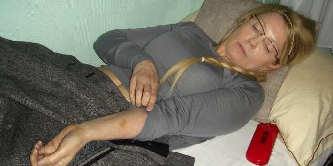Ioulia Timochenko dans sa prison, en avril 2012.