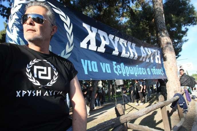 Manifestation de membres du parti