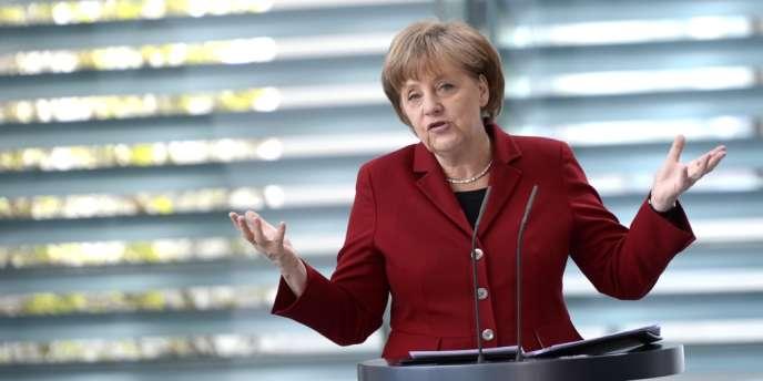 La chancelière allemande, Angela Merkel, refuse de discuter du pacte budgétaire.