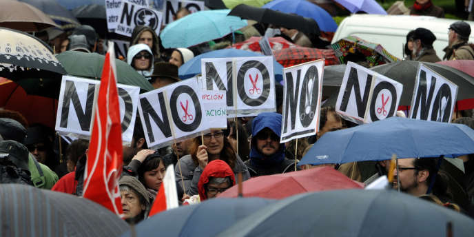 Manifestation à Madrid, dimanche 29 avril.