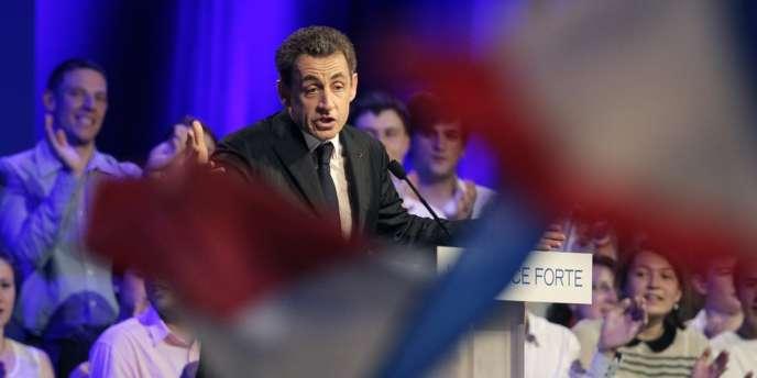 Nicolas Sarkozy, lors de son meeting à Toulouse, le 29 avril.