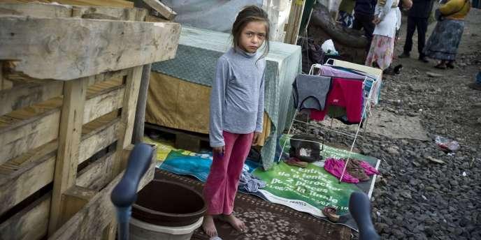 Une communauté de roms installée depuis 2008 sur un terrain en friche de Sucy-en-Brie.