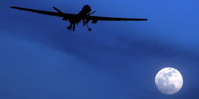 Un drone Predator décolle de la base américaine de Kandahar, en Afghanistan, le 31 janvier 2010.