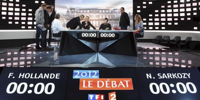 Le studio où se déroulera le débat entre François Hollande et Nicolas Sarkozy, mercredi 2 mai.