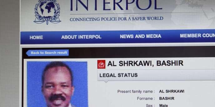 Bashir Al-Shrkawi est recherché par Interpol.