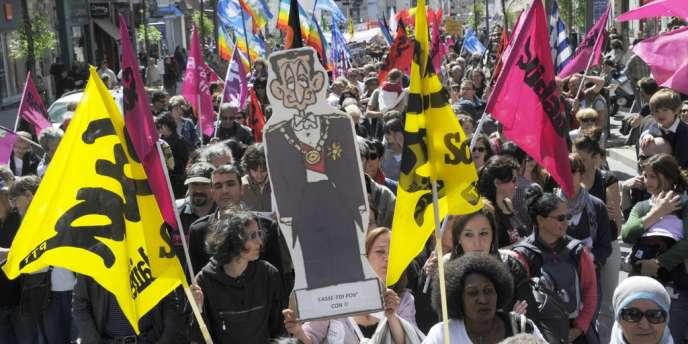 Plus de 20 000 personnes, selon les organisateurs, étaient rassemblées à Marseille.