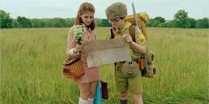 Kara Hayward et Jared Gilman dans le film américain de Wes Anderson,