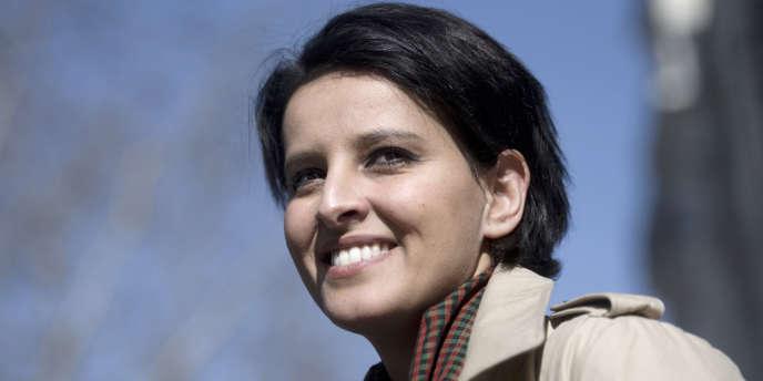 Najat Vallaud-Belkacem, le 12 mars à Paris.