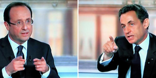 Nicolas Sarkozy et François Hollande, le 2 mai.