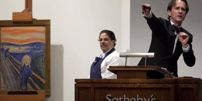 Chez Sotheby's à New York, mercredi 2 mai 2012 au soir.