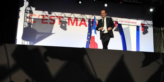 François Hollande, lors d'un meeting à Toulouse, le 3 mai 2012.