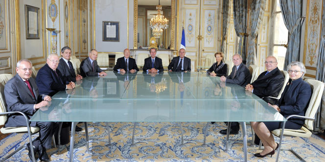Les membres du Conseil constitutionnel.