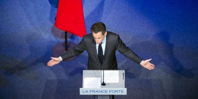Nicolas Sarkozy, lors d'un meeting à Toulon le 3 mai 2012.
