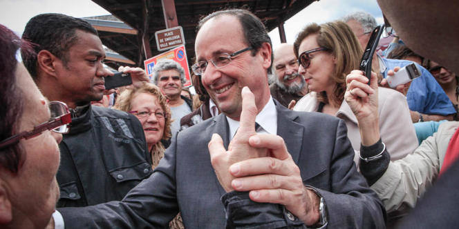 François Hollande à Tulle, dimanche 6 mai 2012.