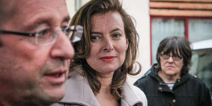 Valérie Trierweiler et François Hollande, le 5 mai à Tulle.
