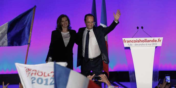 François Hollande et sa compagne Valérie Trierweiler, à Tulle, le 6 mai 2012.