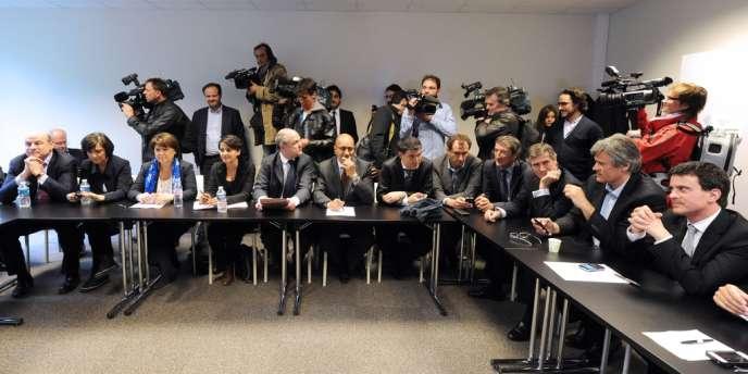 Au QG de François Hollande le dimanche 6 mai