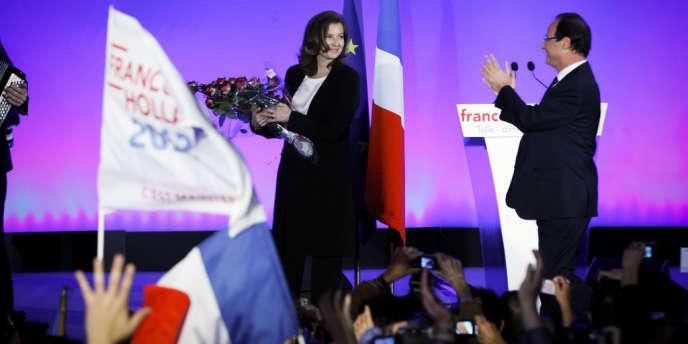 Valérie Trierweiler, compagne du président élu, à Tulle, au soir du second tour de la présidentielle.