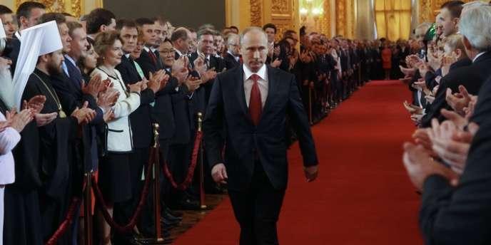 Vladimir Poutine avait réuni quelque 3000 invités dans le Grand Palais du Kremlin pour son investiture lundi 7 mai.
