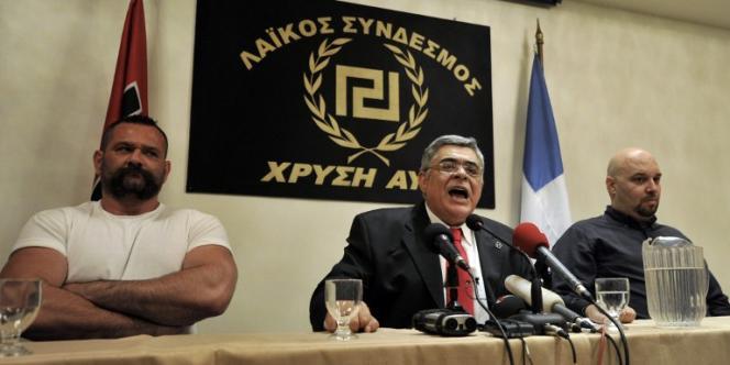 Le leader du parti d'extrême droite, Nikolaos Michaloliakos, le 6 mai.