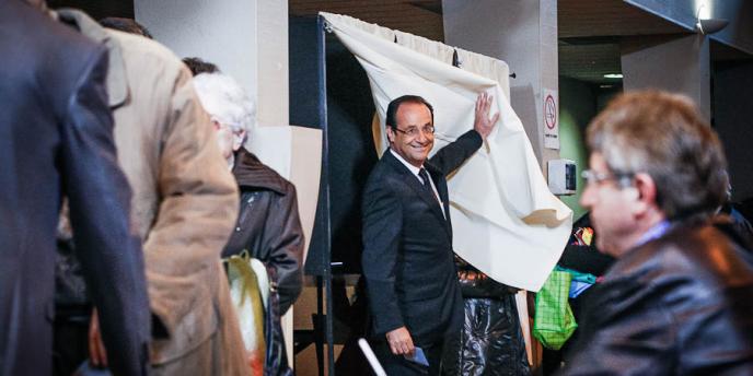 François Hollande, à Tulle, dimanche 6 mai.