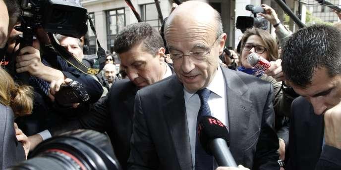 Alain Juppé, lundi 7 mai, à Paris.