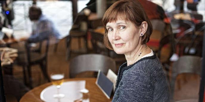 Marie-Hélène Aubert, chargée du pôle environnement auprès de François Hollande pendant la campagne présidentielle, à Paris, le 7 mai.