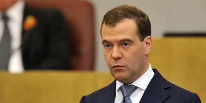 Le premier ministre russe, Dmitri Medvedev, le 8 mai 2012.