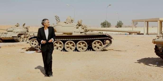 Bernard-Henri Lévy en Libye.