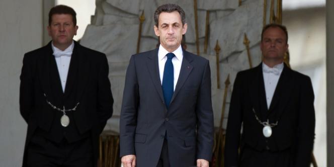 Nicolas Sarkozy, le 7 mai au palais de l'Elysée.