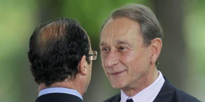 Bertrand Delanoë et François Hollande, le 10 mai.