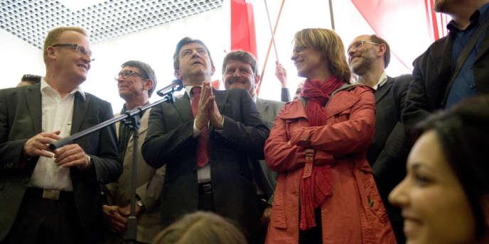 Jean-Luc Mélenchon a officialisé sa candidature aux législatives à Hénin-Beaumont, le 12 mai.