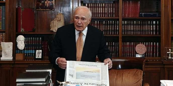 Le président grec, Carolos Papoulias, a déclaré à ses créanciers de l'UE et du FMI que le peuple grec ne pouvait plus rien donner.
